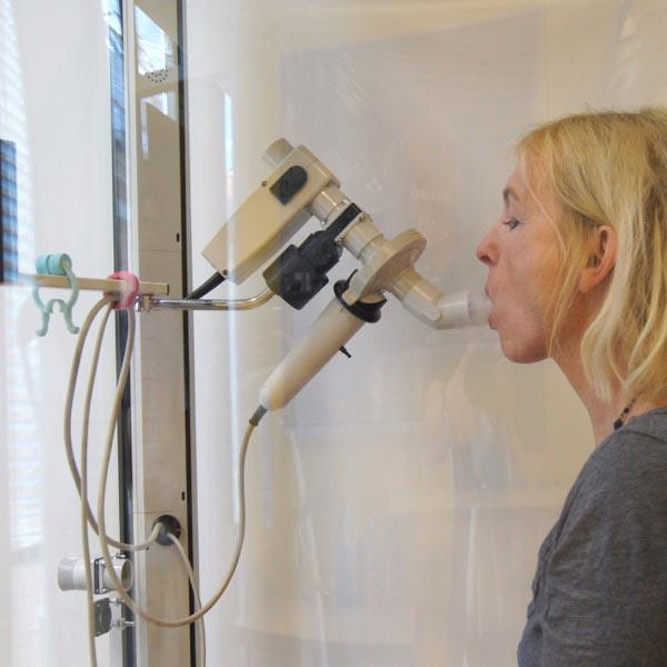 Test der Lungenfunktion: Lungenarzt Innsbruck